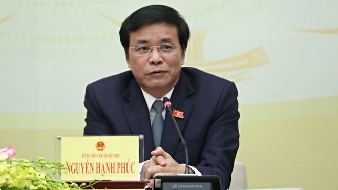 Tổng thư ký Quốc hội Nguyễn Hạnh Phúc: Uỷ ban tư pháp chưa báo cáo kết quả lấy phiếu vụ Hồ Duy Hải - Ảnh 1