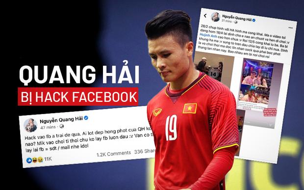 Quang Hải bị hack facebook: Hé lộ đoạn tin nhắn nhạy cảm, có liên quan đến phụ nữ - Ảnh 1