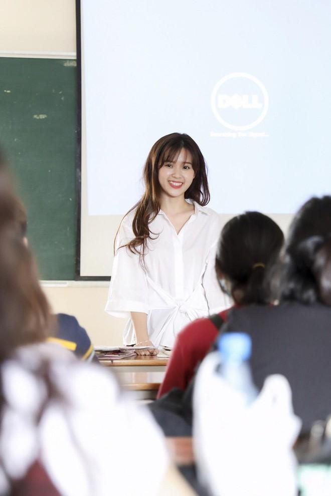 Tiết lộ của lãnh đạo trường Hutech nơi diễn viên xinh đẹp Midu làm giảng viên đại học - Ảnh 2