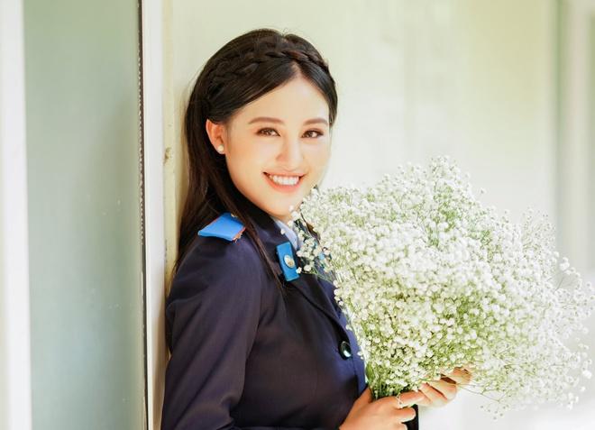 Điều ít biết về nữ sinh cảnh sát hai lần thi hoa hậu, đỗ tốt nghiệp bằng giỏi - Ảnh 1
