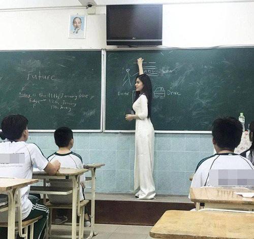 Chuộng ăn mặc hở bạo bên ngoài bục giảng, nữ giáo viên khiến dân mạng tranh cãi gay gắt - Ảnh 1