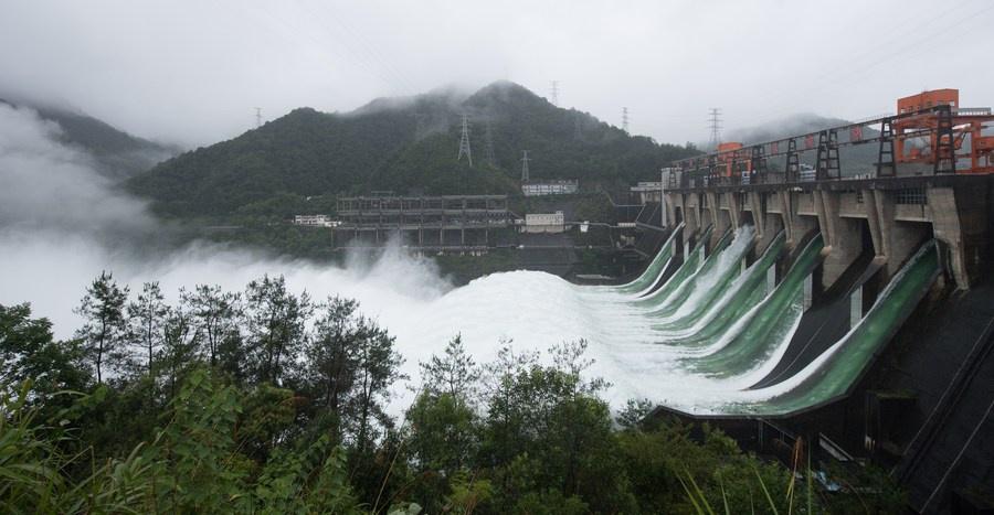 """""""Cá bay đầy trời"""" khi đập thuỷ điện Trung Quốc lần đầu mở đập tràn xả lũ sau 9 năm - Ảnh 3"""