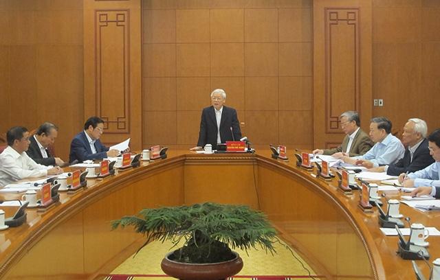 Tổng Bí thư, Chủ tịch nước Nguyễn Phú Trọng chủ trì cuộc họp phòng, chống tham nhũng - Ảnh 1
