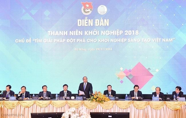 Thủ tướng Nguyễn Xuân Phúc dự diễn đàn thanh niên khởi nghiệp - Ảnh 1