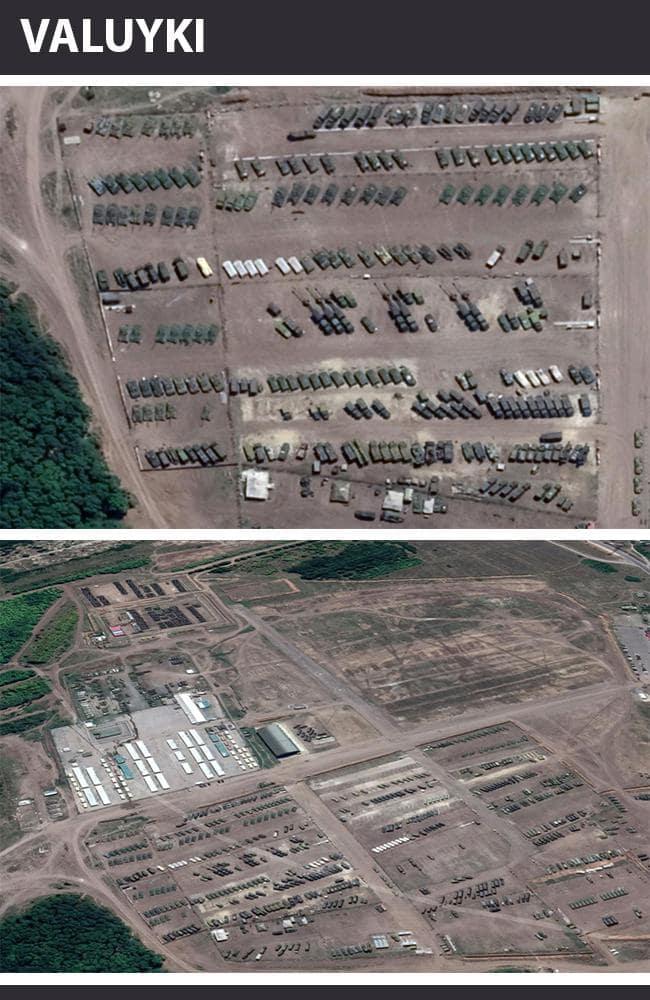 Nga triển khai máy bay cùng loạt xe bọc thép áp sát biên giới Ukraine - Ảnh 3