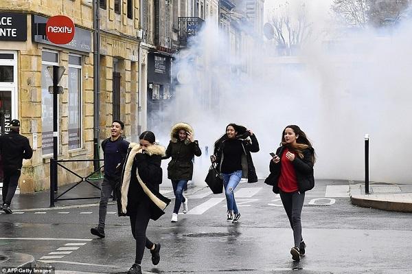Video: Học sinh Pháp quỳ gối, ôm đầu trước cảnh sát gây chấn động dư luận - Ảnh 3