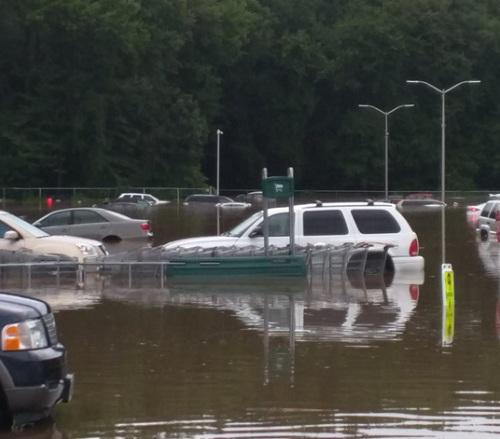 Video: Mưa lớn ở Mỹ khiến loạt ô tô trong đại lý bị cuốn theo dòng nước lũ - Ảnh 3