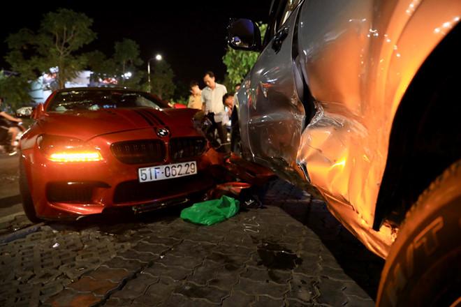 TP.HCM: BMW phóng nhanh mất lái, gây tai nạn liên hoàn - Ảnh 1
