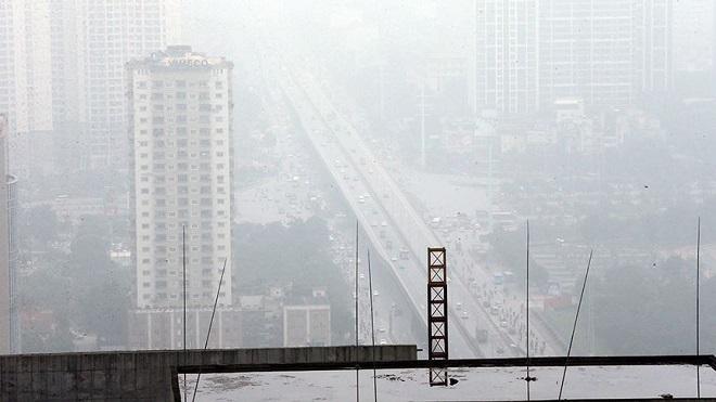 Chùm ảnh: Sương mù dày đặc, người dân thủ đô ngỡ như đang ở Sapa - Ảnh 10