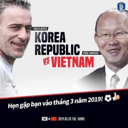 """Yêu cầu dời lịch trận """"siêu cúp"""" Việt Nam - Hàn Quốc của HLV Park Hang-seo bị bác bỏ  - Ảnh 1"""