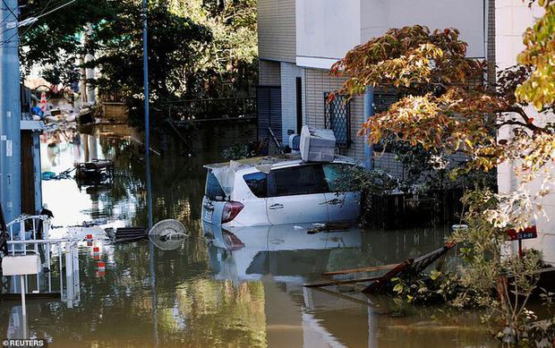 Khung cảnh tan hoang đến khó tin tại Nhật Bản sau khi siêu bão Hagibis đổ bộ - Ảnh 8