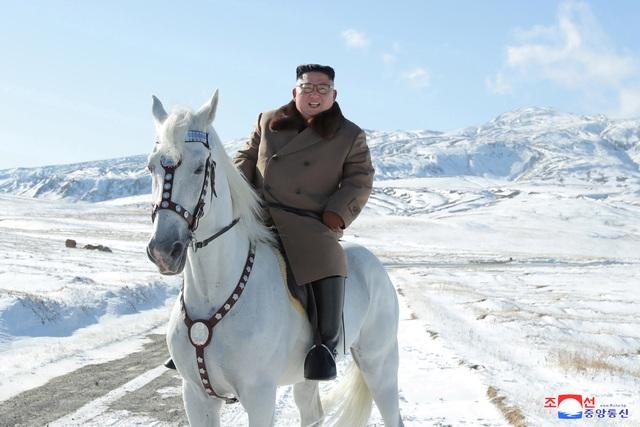 """Ông Kim Jong-un """"gây sốt"""" với bộ ảnh cưỡi bạch mã trên núi tuyết trắng xóa - Ảnh 2"""