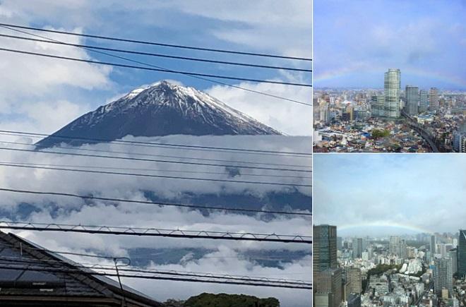 Xuất hiện cảnh tượng thiên nhiên siêu đẹp vào thời khắc Nhật Hoàng đăng quang - Ảnh 1