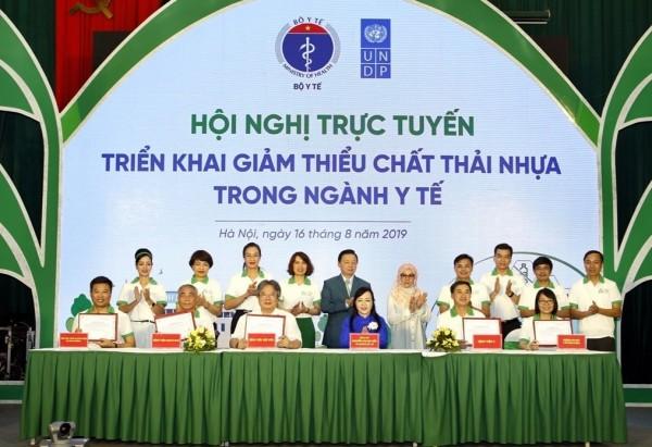 Hội nghị trực tuyến triển khai giảm thiểu chất thải nhựa ngành Y tế - Ảnh 1