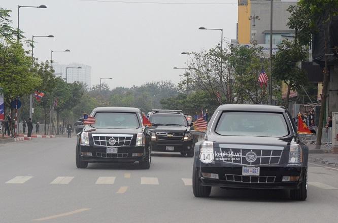 """Đoàn xe """"Quái thú"""" hộ tống Tổng thống Mỹ Donald Trump tới Phủ Chủ tịch - Ảnh 3"""