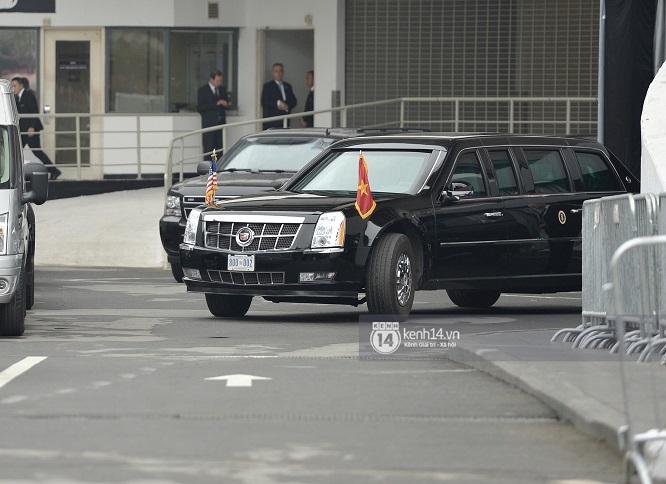 """Đoàn xe """"Quái thú"""" hộ tống Tổng thống Mỹ Donald Trump tới Phủ Chủ tịch - Ảnh 5"""