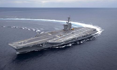 Căng thẳng Mỹ-Iran: Nhóm siêu tàu chiến của Washington tập trận rầm rộ trên biển Arab  - Ảnh 2