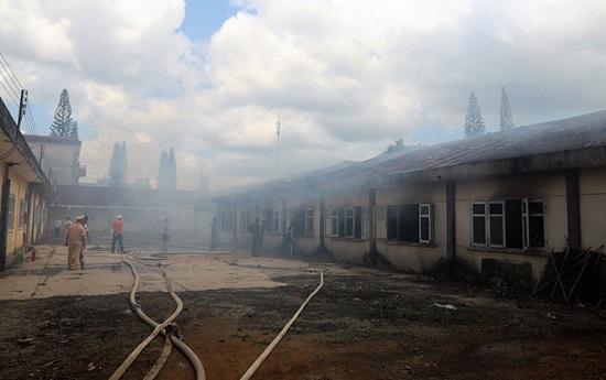 Hỏa hoạn thiêu rụi 7 gian nhà kho nghiên cứu dâu tằm ở Lâm Đồng - Ảnh 4