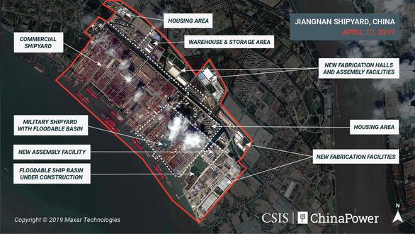 Ảnh vệ tinh hé lộ những đặc điểm đầu tiên về tàu sân bay lớn nhất của Trung Quốc - Ảnh 2
