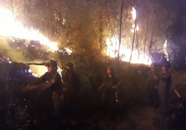 Hiện trường vụ cháy rừng kinh hoàng tại Nghệ An, gần 1000 người căng mình dập lửa - Ảnh 4
