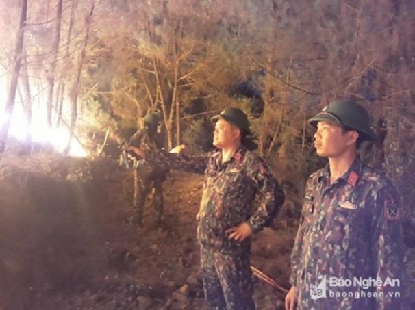 Hiện trường vụ cháy rừng kinh hoàng tại Nghệ An, gần 1000 người căng mình dập lửa - Ảnh 5