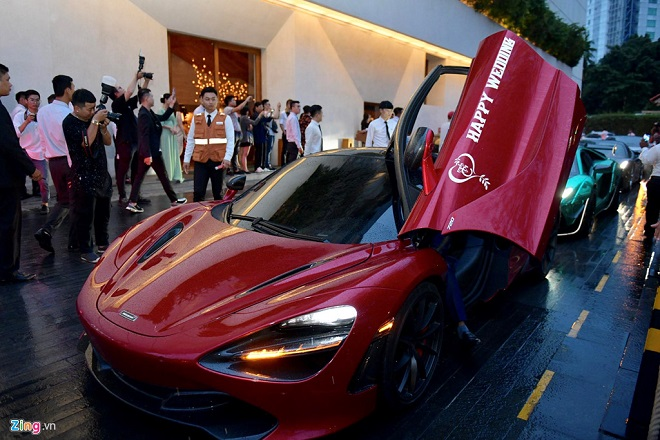 Mãn nhãn trước dàn siêu xe nối đuôi tới dự lễ cưới của Cường Đô La và Đàm Thu Trang - Ảnh 6