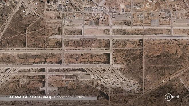 Hình ảnh vệ tinh tiết lộ mức độ thiệt hại của căn cứ quân sự Mỹ sau vụ Iran nã tên lửa - Ảnh 1