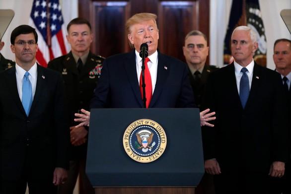 Tin tức quân sự mới nóng nhất ngày 9/1: Ông Trump công bố biện pháp trả đũa của Mỹ với Iran - Ảnh 1