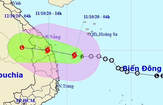 Áp thấp nhiệt đới mạnh lên thành bão số 6, tăng tốc hướng vào miền Trung - Ảnh 1