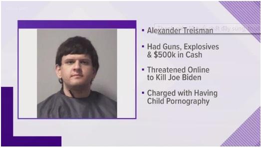 """Bắt giữ nam thanh niên 19 tuổi tàng trữ súng, thuốc nổ, âm mưu """"ám sát ông Biden"""" - Ảnh 1"""
