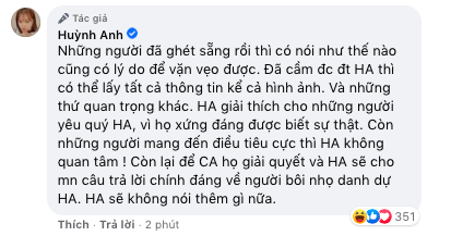 Huỳnh Anh bác cáo buộc là người thứ ba, khẳng định tin nhắn bị chỉnh sửa - Ảnh 3