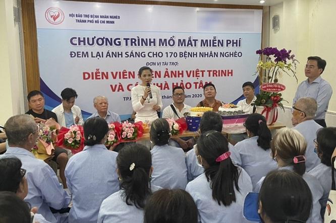 Việt Trinh không tổ chức sinh nhật suốt 11 năm, giúp hàng nghìn người nghèo sáng mắt - Ảnh 1