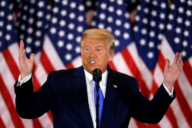 Bầu cử Tổng thống Mỹ: Ông Trump đơn phương tuyên bố giành chiến thắng  - Ảnh 1