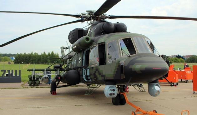 """""""Soi"""" sức mạnh khủng khiếp của """"sát thủ diệt tăng"""" Mi-8AMTSh-VN Nga - Ảnh 1"""