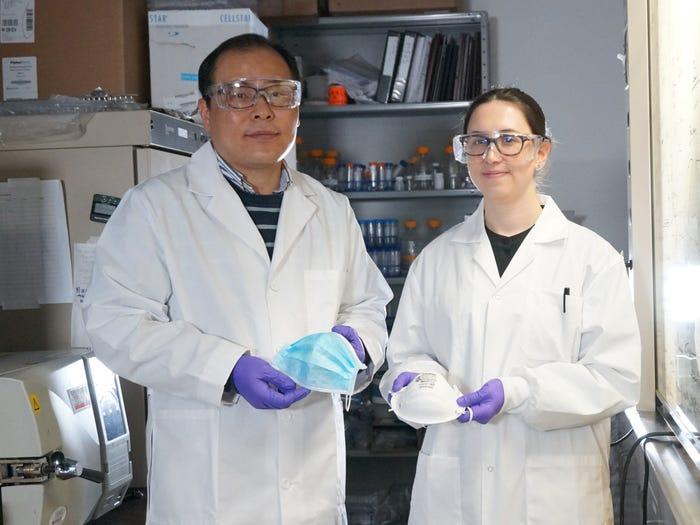 Giáo sư Canada chế tạo thành công khẩu trang vô hiệu hóa virus trong vòng 5 phút - Ảnh 1