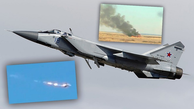 Tiêm kích MiG-31 bốc cháy tại miền Đông Kazakhstan, hai phi công may mắn thoát chết - Ảnh 1