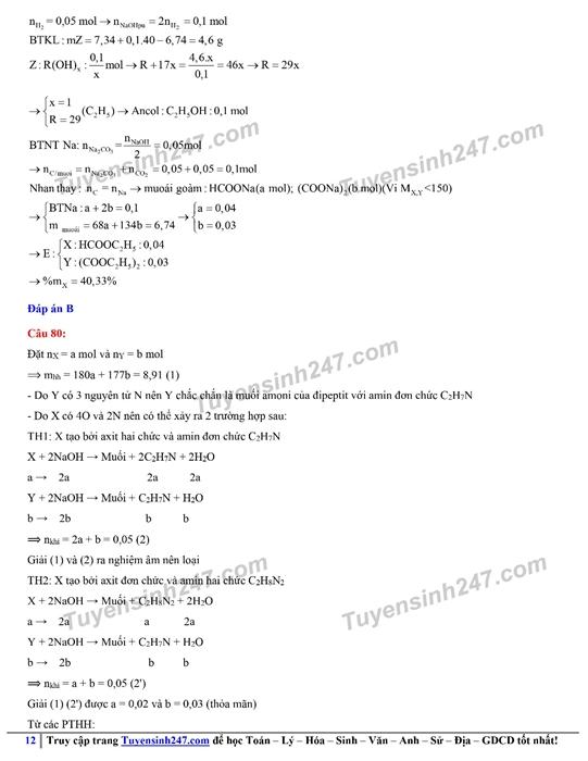 Đáp án gợi ý đề thi môn Hóa học kỳ thi tốt nghiệp THPT 2020 - Ảnh 15