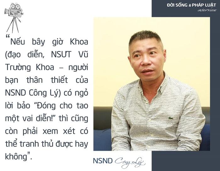 NSND Công Lý: Họ nói về công lý pháp luật, chứ không phải ông Nguyễn Công Lý - Ảnh 1
