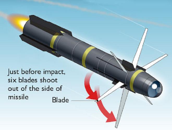 Lộ hình ảnh 'tên lửa ninja' của Mỹ xé nát mục tiêu ở Syria mà không cần phát nổ - Ảnh 1
