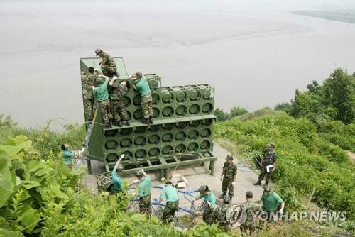 Triều Tiên lắp đặt lại loa tuyên truyền dọc biên giới nhằm trả đũa Hàn Quốc - Ảnh 1