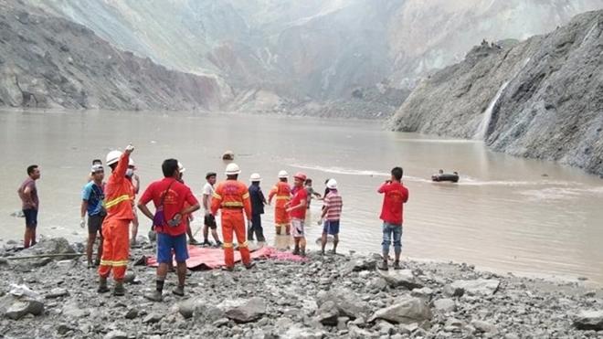 Thảm họa sập mỏ đá quý ở Myanmar, ít nhất 113 người thiệt mạng  - Ảnh 1
