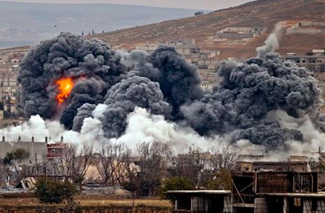 Tiêm kích Nga, Syria trút mưa bom san phẳng nhiều hang ổ của khủng bố IS - Ảnh 1