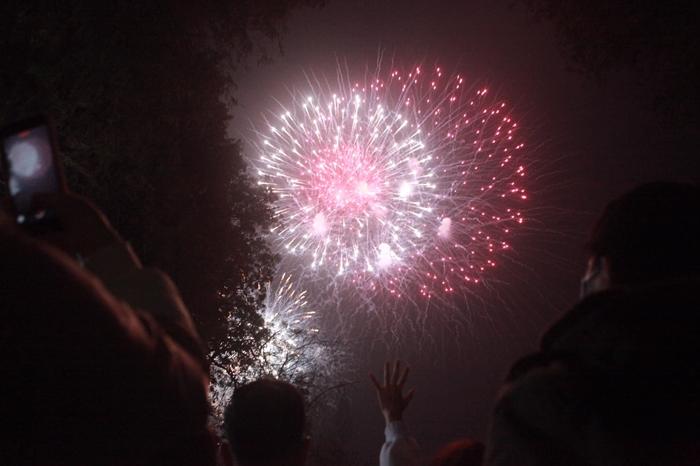 Pháo hoa rực sáng bầu trời cả nước chúc mừng năm mới 2021 - Ảnh 10