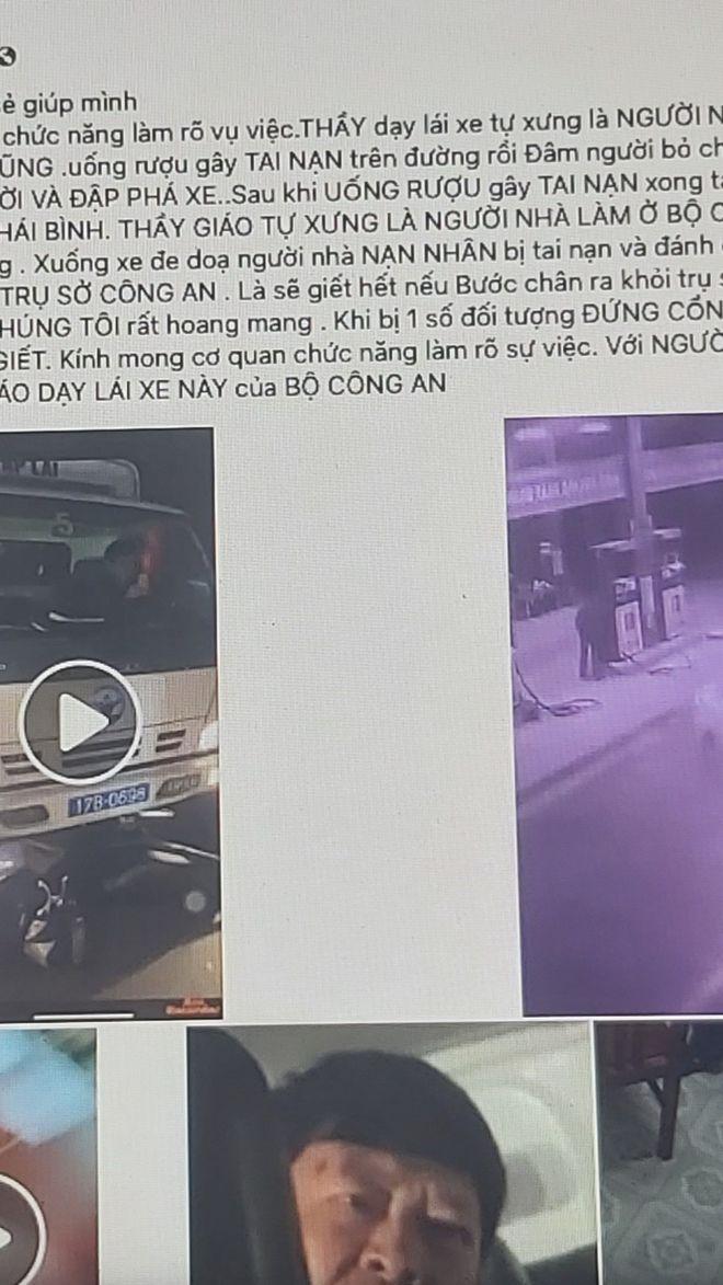 Thái Bình: Giáo viên dạy lái xe bị tố hành hung người khác sau va chạm trên đường - Ảnh 1