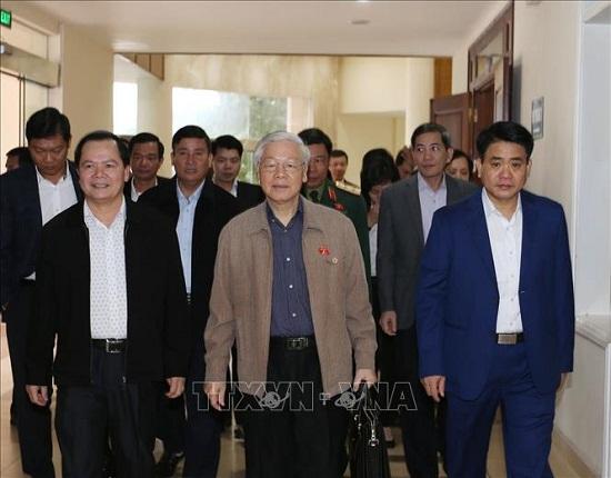 Tổng Bí thư, Chủ tịch nước Nguyễn Phú Trọng tiếp xúc cử tri quận Ba Đình và Tây Hồ - Ảnh 1