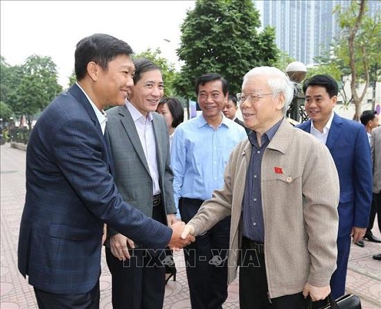 Tổng Bí thư, Chủ tịch nước Nguyễn Phú Trọng tiếp xúc cử tri quận Ba Đình và Tây Hồ - Ảnh 4
