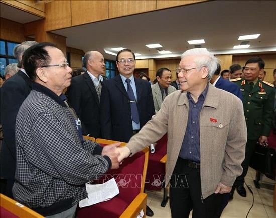 Tổng Bí thư, Chủ tịch nước Nguyễn Phú Trọng tiếp xúc cử tri quận Ba Đình và Tây Hồ - Ảnh 5