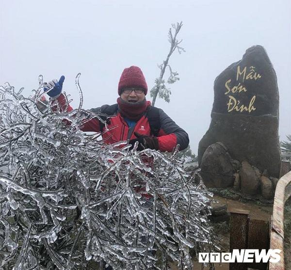 Ngắm những đồ vật như hóa thạch ở Bắc Cực trên đỉnh Mẫu Sơn trong đợt băng tuyết đầu tiên - Ảnh 5