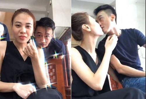 """Phát sốt trước hình ảnh Cường Đô la """"khóa môi"""" Đàm Thu Trang khi livestream - Ảnh 1"""