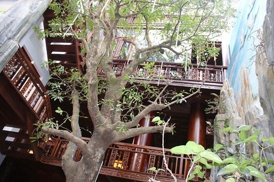 """Cận cảnh ngôi nhà 5 tầng bằng gỗ quý """"độc nhất vô nhị"""" tại Việt Nam - Ảnh 6"""